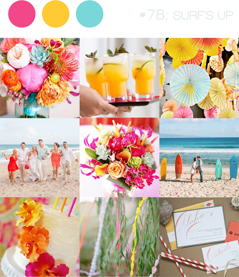bloved-uk-wedding-blog-inspiration-board-surfs-up-pink-yellow-aqua-beach
